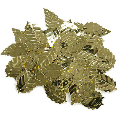 Darice Sequin Large Leaf Gold  0.875 Inch