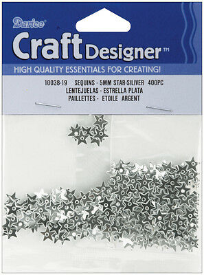 Darice Sequin Tiny Star Silver 5mm