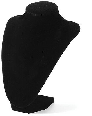 Darice Bust Necklace Stand 9 Inches Black Velvet