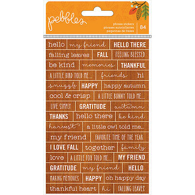 American Craft Pebbles Woodland Forest Collection Cardstock Stickers Phrases
