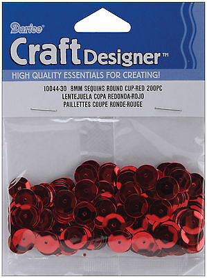 8mm Red Cup Sequins