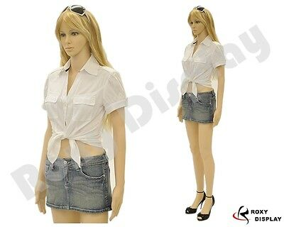 Plastic Durable Female Manikin Mannequin Display Dress Form G7+FREE WIG