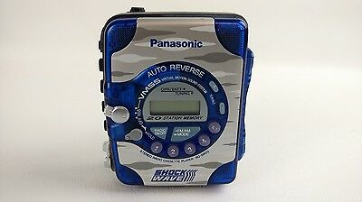 Panasonic Shockwave Cassette Player RQ SW20 VMSS Auto Reverse Clear Blue