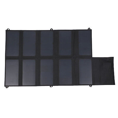 DC 12V 5V Folding Solar Power Panel Charging For Phones GPS Outdoors Product