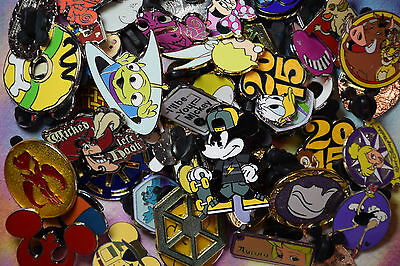Disneyland Disney World trading pin lot 50 booster Hidden Mickey princess more