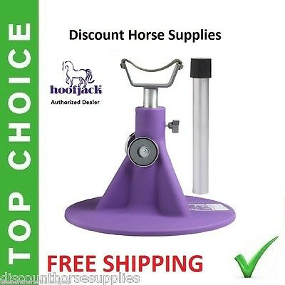 NEW PURPLE HORSE HOOFJACK farrier stand Hoof Jack Stand DVD Equine Innovations