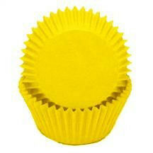 Yellow Glassine Baking Cups  - 50 Pack