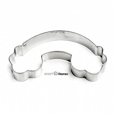 Rainbow and Clouds Stainless Steel Cookie Cutter