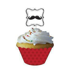 Moustache Madness Cupcake Wrappers and Picks x 12