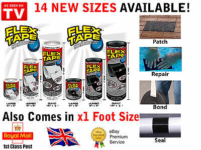 FLEX TAPE Silicone Seal Strong Wide Fusing Wire Pipe Repair Waterproof UK STOCK