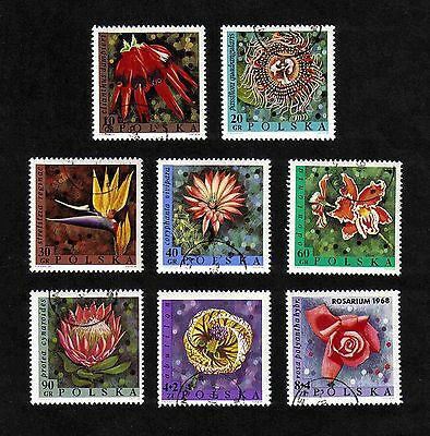 Poland 1968 Flowers complete set of 12 values (SG 1816-1823) used
