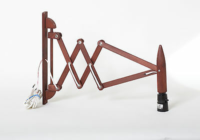 lamp le klint style brown red modern sax lamp mid century wood accent lightning