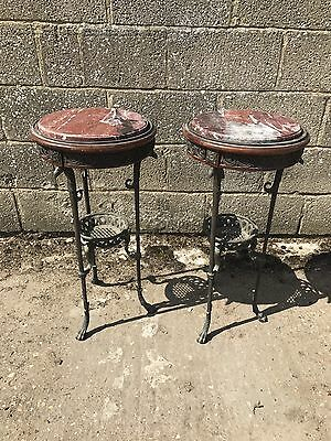 Beautiful, Antique, French Bronze Side Table, Vintage, Original, Matching Pair