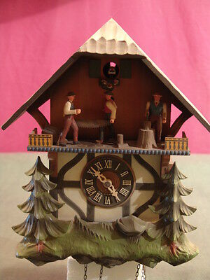 Cuckoo Clock Made In West Germany Vintage Black Forest Hand Crafted