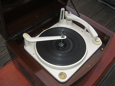 Restored Vintage Pye Black Box Valve Record Player 1950s