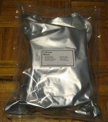 Lithium  metal NEW !!  ingot 99.9% 5 Kg Pure element chemical reagent