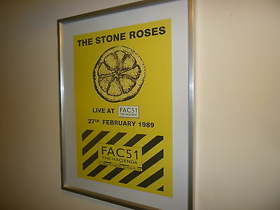 RARE Stone Roses Metal Promotional Sign - Hacienda Gig 1989 -excellent condition
