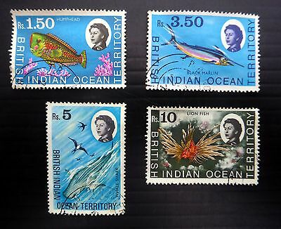 BRITISH INDIAN OCEAN TERRITORY 1968 - 4 Values Fine/Used NB1186