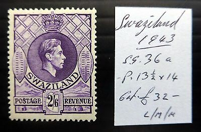SWAZILAND 1943 G.VI - 2/6 As Described Mounted Mint NB1189