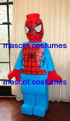 New Special spiderman heroe Mascot Costume lego figure Character.