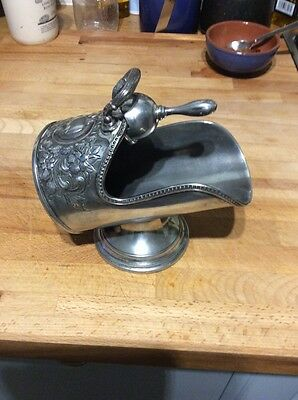 Vintage Silver Plated  Sugar Scuttle & Scoop