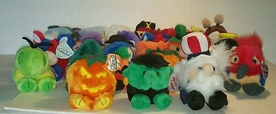 Lot of 28 PUFFKINS Stuffed Animals by Swibco HOLIDAY LIMITED EDITION