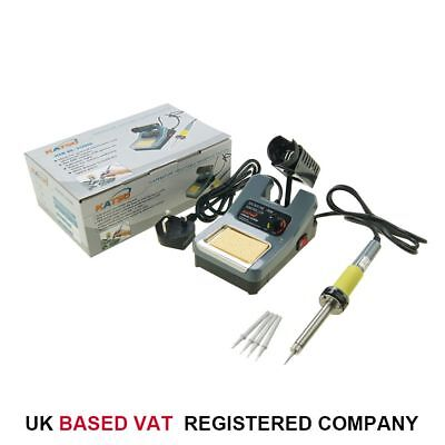 312096 48W Variable Temperature Soldering Station Iron Electronic W/ Extra Tips