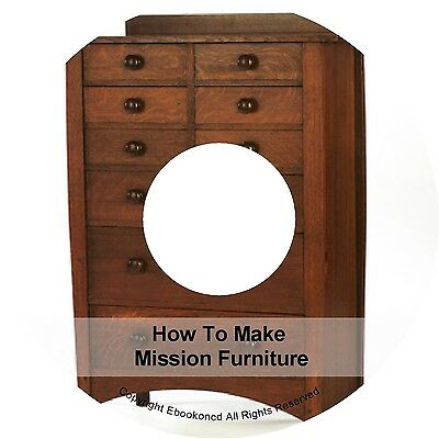 How To Make Wood Wooden Mission Furniture Designs Chairs Tables Books on CD