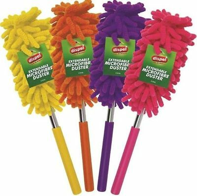 New Colorful Extendable Telescopic Cleaning Feather Duster Microfibre Brush