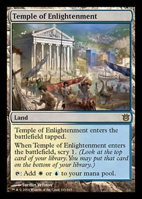 MTG Temple of Enlightenment - Land - Magic the Gathering - BOTG Rare UK