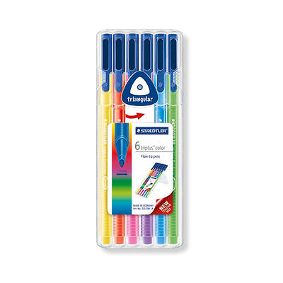 Staedtler Triplus Color 1.0mm Fibre Tip Pens Pack of 6