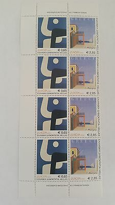 2003 Greece Stamps Europa Poster Art Block of 4 Set MNH