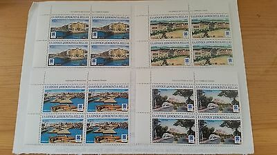2004 Greece Stamps Athens 2004 Olympic Cities Block of 4 Set MNH