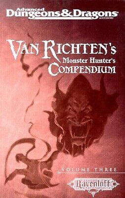 TSR VAN RICHTEN'S MONSTER HUNTER'S COMPENDIUM THREE Dungeons and Dragons D&D