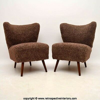 PAIR OF RETRO COCKTAIL CHAIRS VINTAGE 1950's