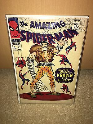 Amazing Spider-Man #47 Kraven The Hunter 1967 (UK pence copy)