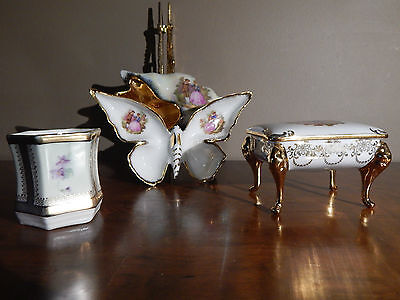 Lot of 4 MINIATURES PORCELAIN (3 LIMOGES + 1 PRUSSIA)
