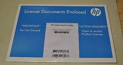 HP Insight Control Lic/S-Buy P/N: C6N27S   -   NEW SEALED FREE SHIPPING