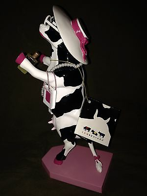 Cow Parade Cow Figurine-Alphadite-Goddess Of Shopping-Numbered Edition! Mint!!!