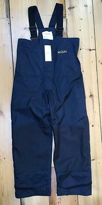 Wetline Size LARGE Navy Blue Waterproof Salopettes Sailing Fishing Water Sports