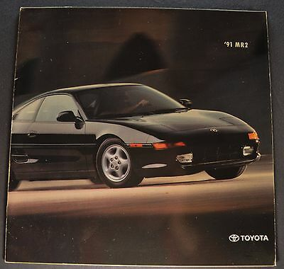1991 Toyota MR2 Catalog Sales Brochure Excellent Original 91