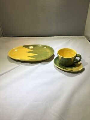 Shawnee Pottery King Corn  Plate, Cup and Saucer Set