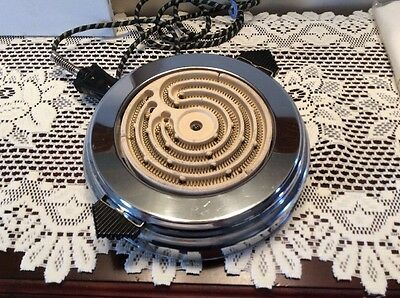 Vintage Bersted Electric Hot Plate Chrome Model 11 McGraw