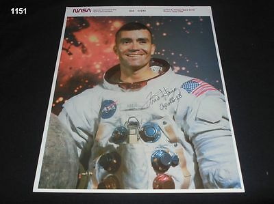 Fred Haise - signiert - Autograph - signed - Apollo 13 - NASA - Autogramm