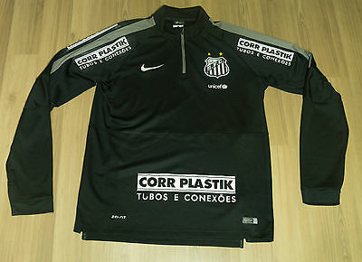 Santos FC Nike Half zip 2015 Training Player issue RARE jacket