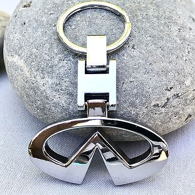 NEW INFINITI LOGO METAL CHROME LOGO KEYCHAIN KEY-CHAIN Key Ring KC052