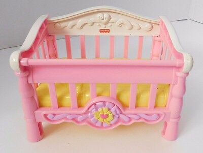 Fisher Price Snap N Style Pink White Baby Crib Bed 2006