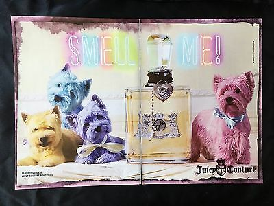 4 Highland Terrier Dogs in Pastel Colors Juicy Couture Perfume 2 Pg Print Ad '06
