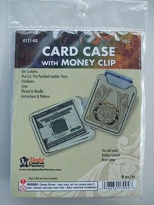 MONEY AND CREDIT CARD CLIP -  LEATHER KIT by TANDY - FREE SHIPPING!