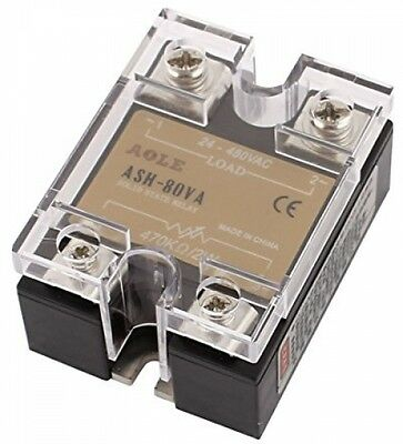Sourcingmap ASH-80VA 470Kohm 2W To 480VAC 80A Single Phase Solid State Relay